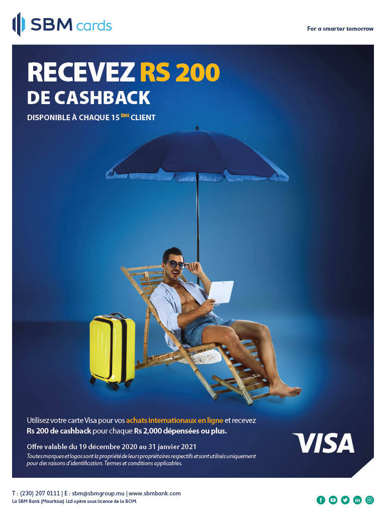 SBM Visa Ecommerce Cash Back