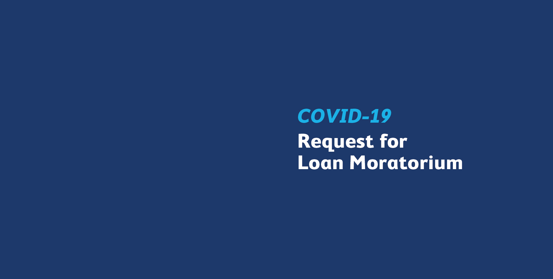 COVID-19 Request for Loan Moratorium SBM Bank